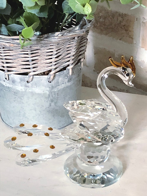Glass Swan -Gold