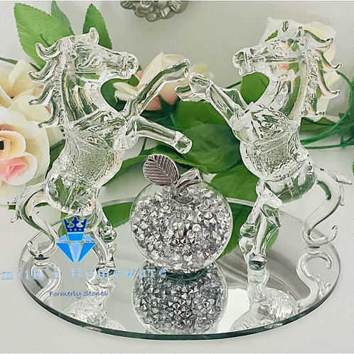 Rearing Horse glass ornament