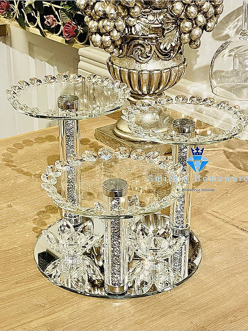 Triple Glass canister stand