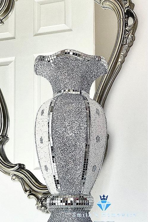 Mirror Mosaic Glitter Vase