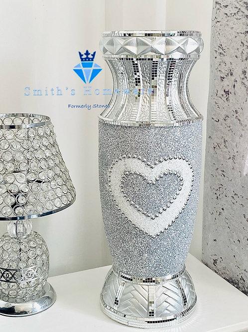 Large Heart glitter Vase