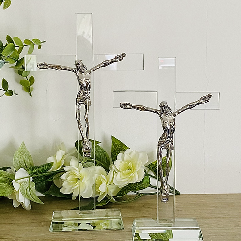 Glass Crucifix - large