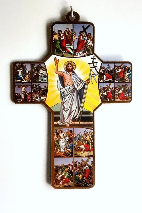 Decorative wooden Crucifix Wall Plaque