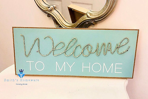 LED wall mounted 'Home' plaque