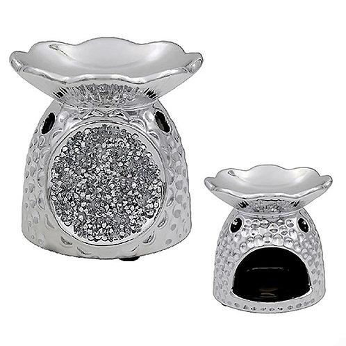 Silver Sparkle mini wax melt and Oil burner