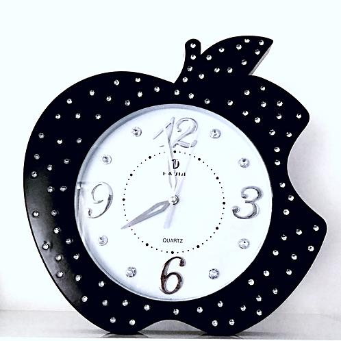 Large Black Romany Apple Clock