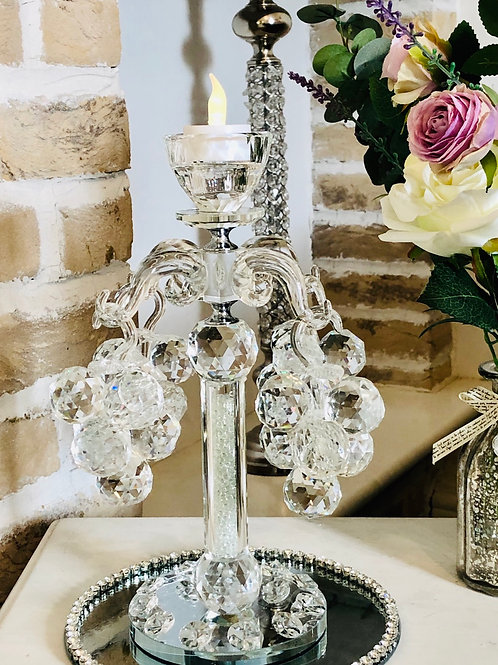 Glass Grape Candle Holder
