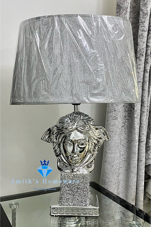 Diamanté studded Medusa Lamp