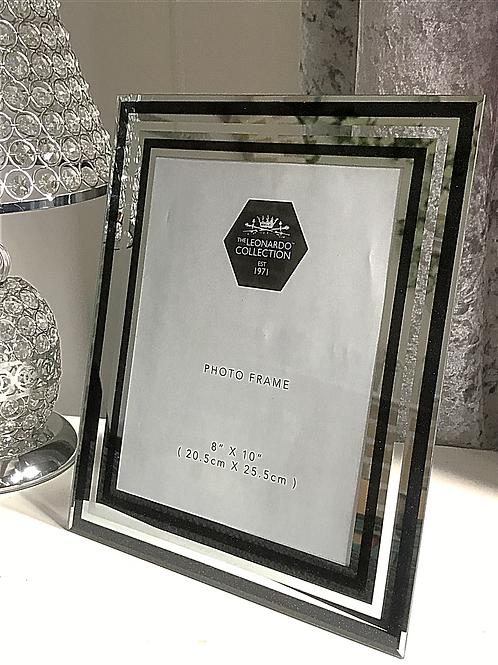 Mirror and Black Glitter Frame 8x10
