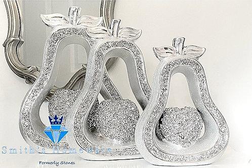 Diamanté  Pear set