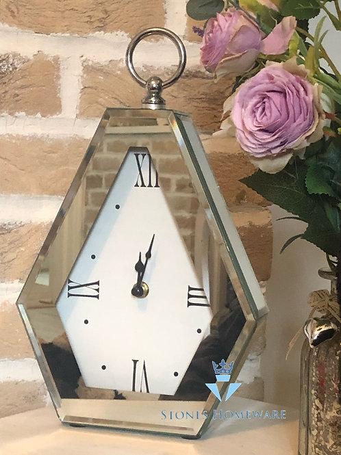 Mirror Diamond Mantle Clock