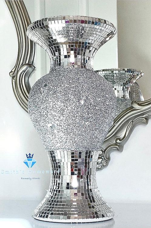 Silver Glitter vase