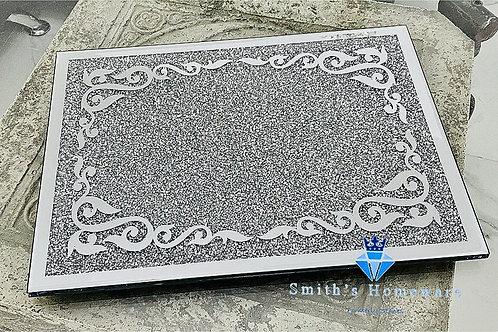 Silver Diamanté Chopping Board