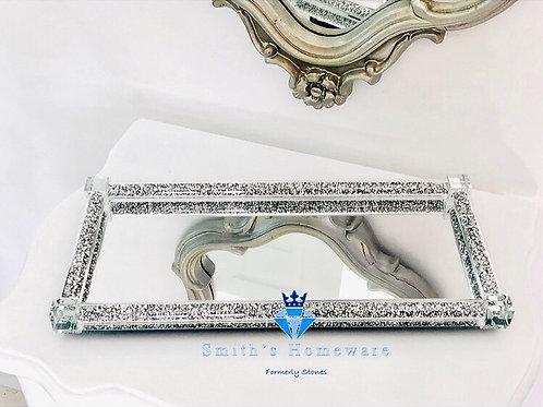 Silver Diamante Display Tray