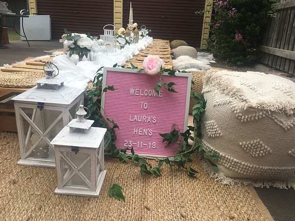Decorated Pallet Table Terrigal