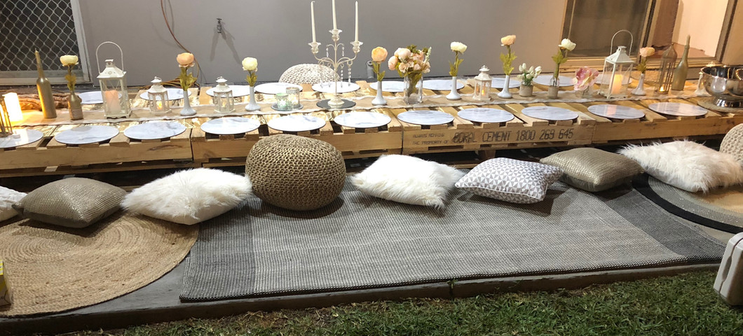 Decorated Pallet Table