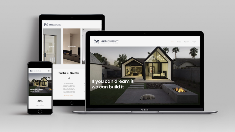 M&M Construct website