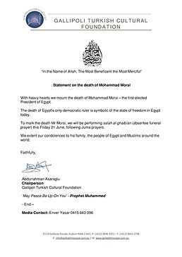 Statement on the death of M Morsi-page-0