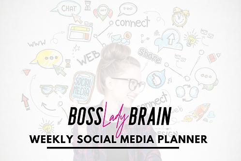 Printable Weekly Social Media Planner