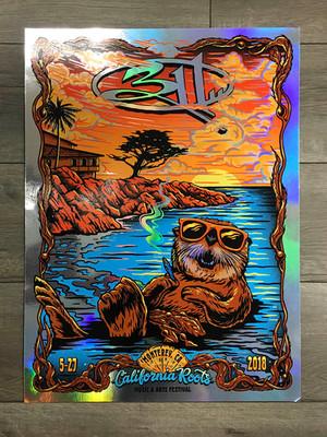 311 Foil printed poster