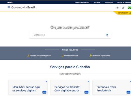 Lançamento do novo portal Gov.br reunindo práticamente todos os serviços do portal do cidadão!