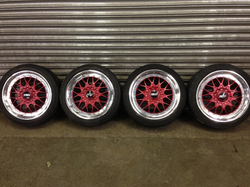 BBS alloy wheels red