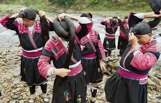 yao women rice water
