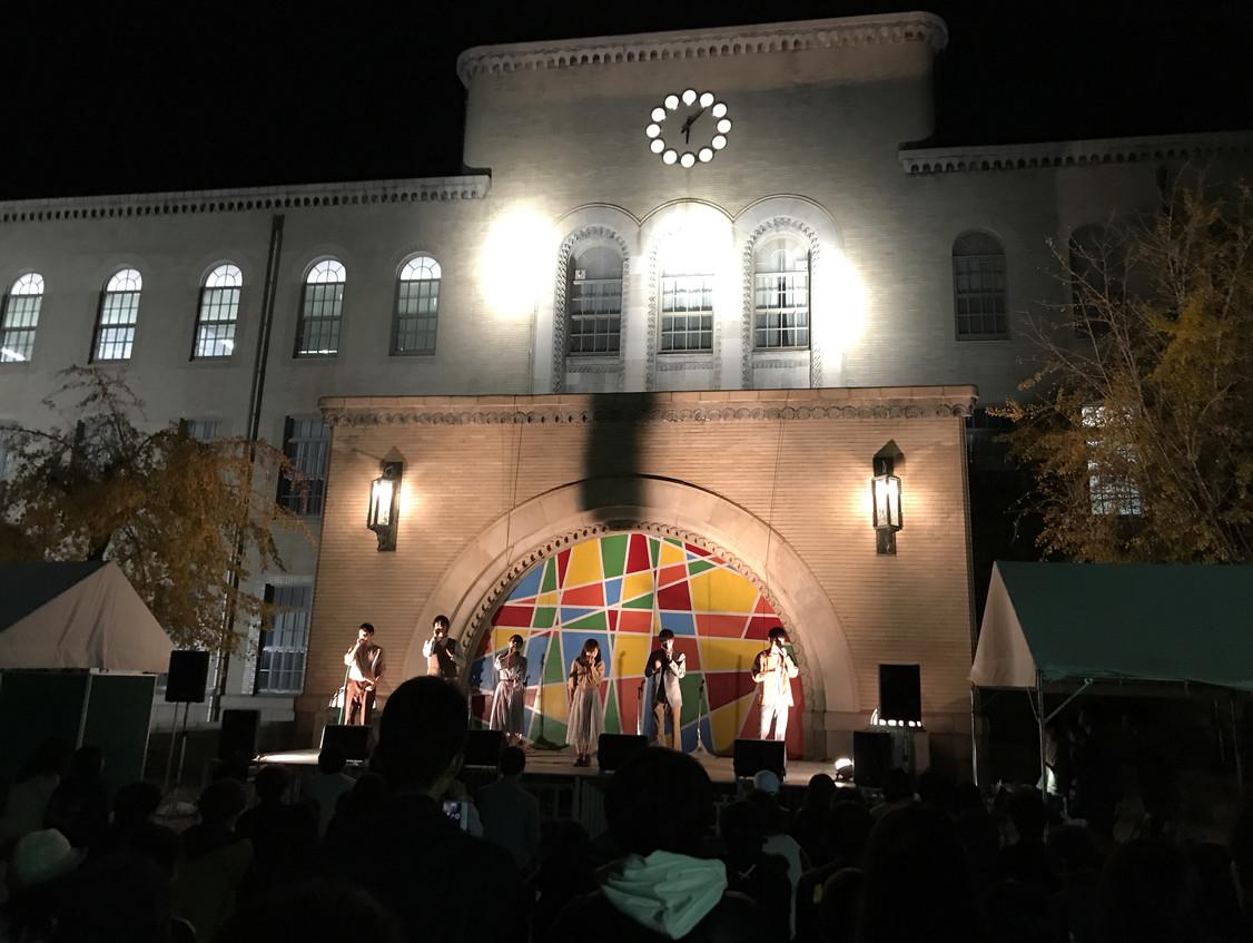 夜の園遊会ステージ