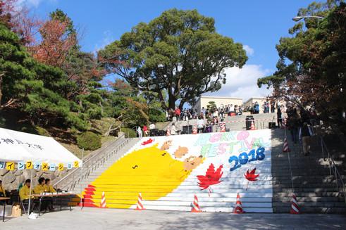 大階段アート