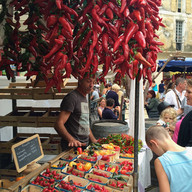 Weekly market, Luberon, France