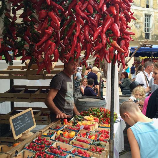 Weekly market, Luberon, France
