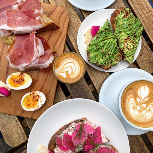 Outdoor breakfast, Berkeley, CA