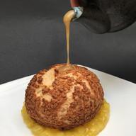 "Chef B.'s ""banana cream pie with miso caramel"""