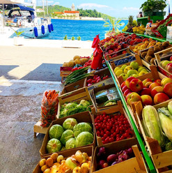 Oceanside market, Split, Croatia