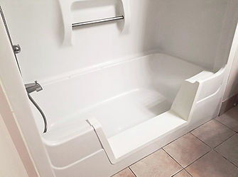 Bathtub to shower cutout