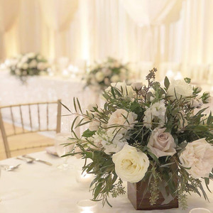 Romantic setting with votive candles