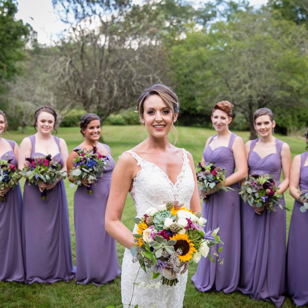 Jenny and her bridesmaids