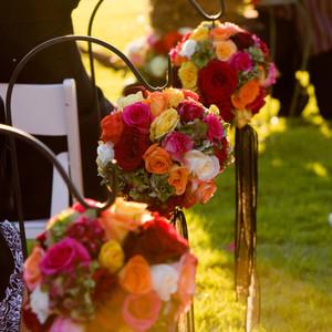 Rose Orbs Aisle Decor