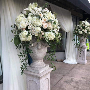 Pedestal urns to greet your guests!