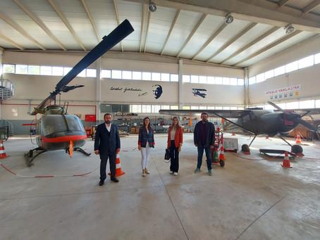 Ege Üniversitesi Havacılık MYO ziyareti