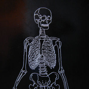 Gestickte Knochen