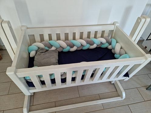 Custom wooden rocker cot