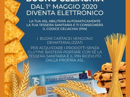 Dal 1 maggio 2020 il buono celiachia diventa elettronico anche in Liguria.