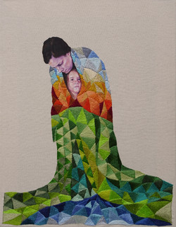 Mother & Child in Blankets
