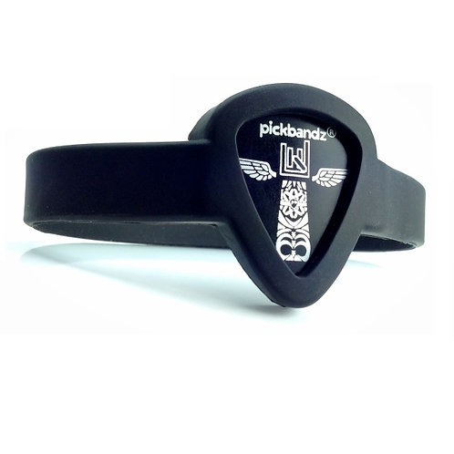 Epic Black Pickbandz® Wristband guitar pick holder