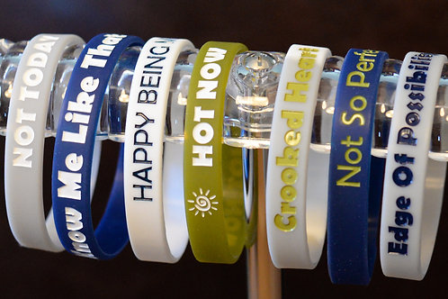 Silicone Song Title Bracelets (set of 7)