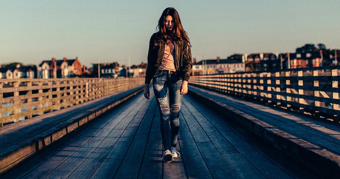Bryce on the docks in Dublin, Ireland