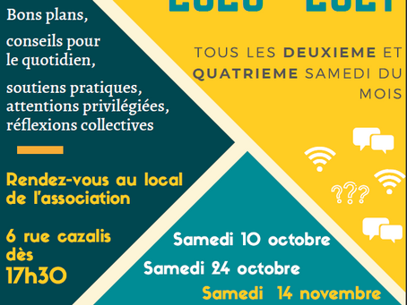 Les moments conviviaux 2020/2021 reprennent dès le 10 octobre!