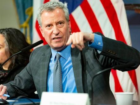 Workplace temperature checks will be key after coronavirus crisis, de Blasio says