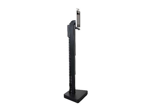 Height Adjustable Stand with Disinfecting UV Light Side View